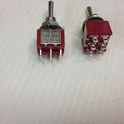Point Motor Switch Momentary DPDT X 2