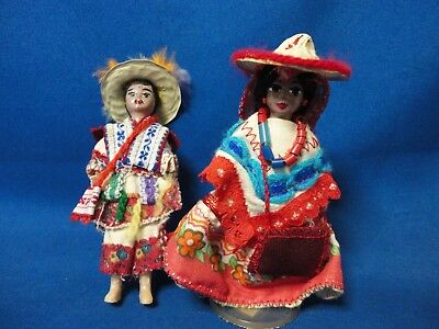 Vintage Huicholes Doll Made in Mexico