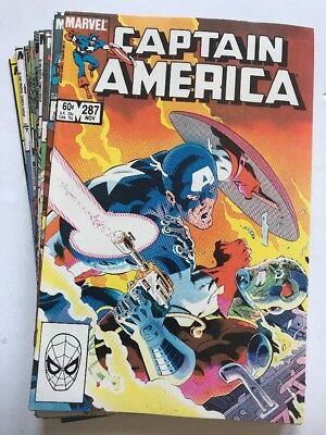 CAPTAIN AMERICA #287-331 Lot Of (12) Issues, Marvel (1983-'87)