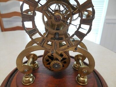 Beautiful Antique Skelton Clock with  Dome
