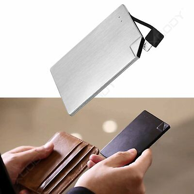 Super Slim Power Bank Card Power External Battery Charger for Mobile iPhone