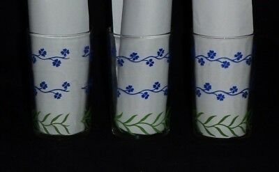 Vintage Kraft Swanky Swigs Blue Forget-Me-Not Glasses - Set of 3