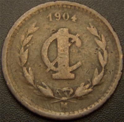 1904M 1 Centavo Mexico - Eagle is Still Holding the Snake
