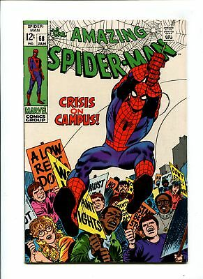 Amazing Spider-Man #68 VF/NM 9.0 HIGH GRADE Marvel Comic Campus Cover Silver 12c