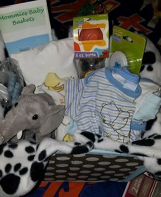 Baby Shower Gift Basket For A Baby Boy.
