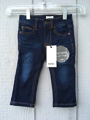 Hudson Infant Jeans Boy OR Girl 12mo Distressd Pull On Adjustable Soft Stretch