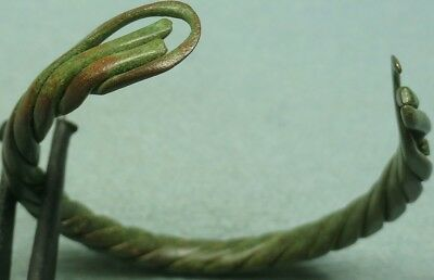 Ancient Bronze Twisted Wire Band Bracelet
