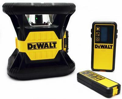 DeWALT DW079LG 20v MAX LITHIUM ION 15/45/90° GREEN TOUGH ROTARY LASER LEVEL KIT