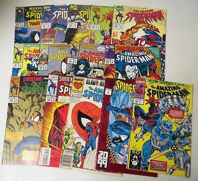Vintage 1990s COMIC BOOK LOT MARVEL SPIDERMAN And related (14)