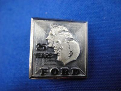 Vintage Ford Motor Co. 25 Years 10K White Gold Filled Employee Service Pin