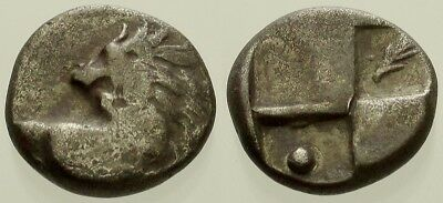 028. Greek Silver Coin. CHERSONESOS. AR Hemidrachm. Lion. Fine