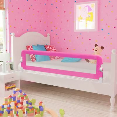 vidaXL Toddler Safety Bed Rail 150x42cm Pink Baby Cot Protective Gate Guard