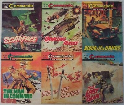 Lot 14. Six Commando War Picture comics #'s 1832-1841. Dated 1984.