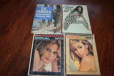 4 Vintage U.s Camera International Pictures Photography Annual Magazines 60,70S