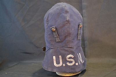 Original Wwii Us Navy  Military Combat Cold Weather Scull Cap Hat Ww2 Usa