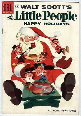"Dell Four Color # 753  Walt Scott's The Little People ""Happy Holidays"" FREE SHIP"