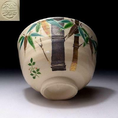 DF7: Japanese Hand-painted Tea Bowl, Kyo Ware by Famous potter, Shojyu Heian