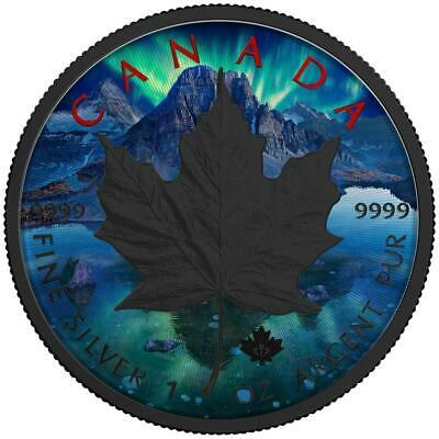 Canada 2017 5$ Maple Leaf 1Oz 9999 Silver Aurora Precious Bullion Coin