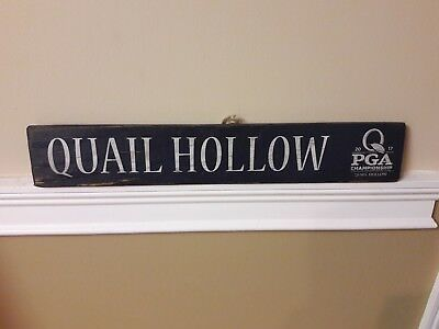 2017 PGA Championship Quail Hollow Rare Vintage Wooden Sign Hand Made New