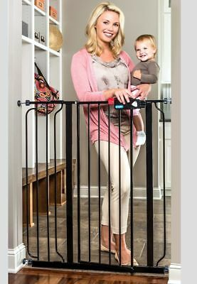 Regalo Deluxe Easy Step Extra Tall Gate, Black Pet Cat Dog Baby