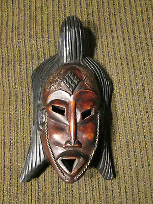 Wooden wall mask from Ghana / Africa (#123)