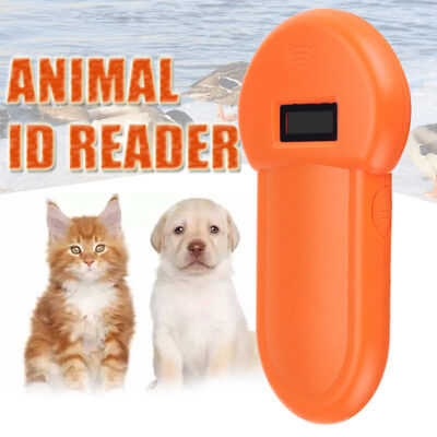 RFID 134.2Khz Pet Dog Animal Microchip ID Reader Handheld ISO FDX-B Scanner