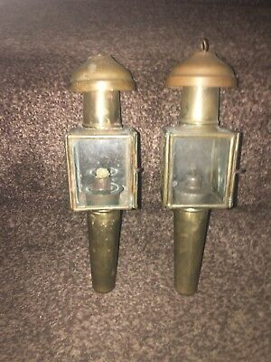 Matching Antique Pair Of Victorian Carriage Lamps.