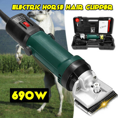 690W Electric Horse Hair Clipper Trimmer Shaver 6 Speed Sheep Goats Shearing