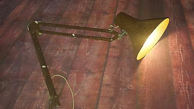 Vintage Retro Industrial Machinist Anglepoise Style Desk Table Lamp Light