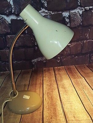 Rare Retro Herbert Terry & Sons Ltd Anglepoise Goose neck Brown Table Desk Lamp