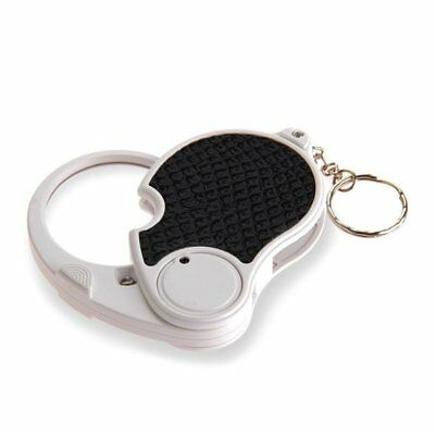 5 Trade Loupe Magnifying Glass with LED Lamp Pocket Magnifier Portable Fold R7A7