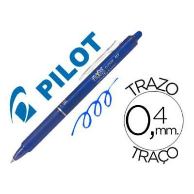 Boligrafo Pilot Frixion Clicker Borrable 0,7 Mm Color Azul (pack De 12)