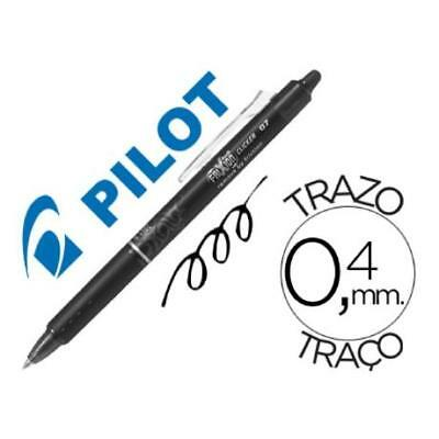 Boligrafo Pilot Frixion Clicker Borrable 0,7 Mm Color Negro (pack De 12)