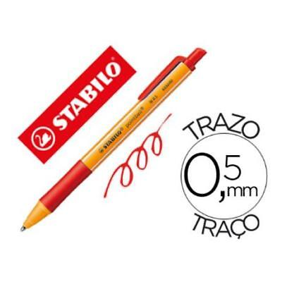 Boligrafo Stabilo Pointball 0,5 Mm Color Rojo (pack De 10)