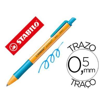 Boligrafo Stabilo Pointball 0,5 Mm Retractil Turquesa (pack De 10)