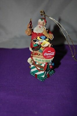 1999 Danbury Mint Coca Cola Santa Ornament Collection The Gift for Thirst