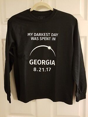 2017 Eclipse in Georgia Long-sleeved Shirt Youth XL 14-16 NWOT