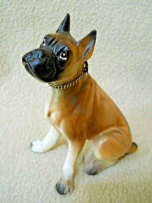 VIntage Ceramic BOXER DOG Figurine / Japan