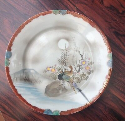 Vintage 1920's Japanese Plate , Hand Painted & Signed