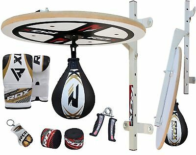 RDX 10 PC Speed Ball Platform Set Boxing Gloves Swivel Stand Bracket Speedball