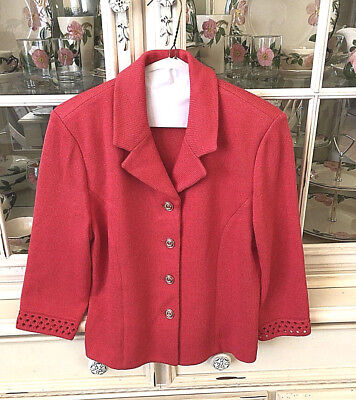 St John Collection By Marie Gray Coral Santana Knit Jacket Size 2