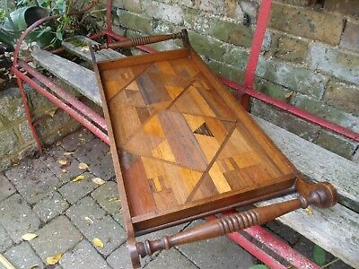 Edwardian Inlaid Wooden Gallery Tray