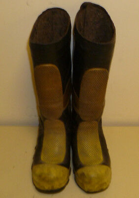 Morning Pride Firefighter Turnout Gear Rubber Boots Steel Toe Size 6 R223