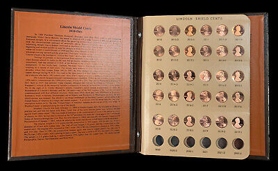 2010 to 2019 P/D/S Lincoln Cent Set in Dansco Album Uncirculated & Gem Proof