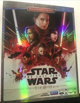 Star Wars The Last Jedi Blu-Ray With Slipcover (Discs Never Touched-No Digital)