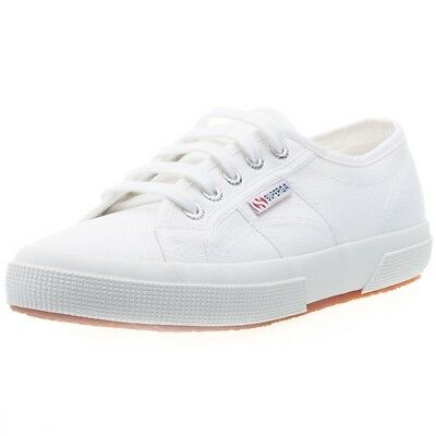 67282e59ecf6 Superga 2750 Womens White Canvas Casual Trainers Lace-up Genuine Shoes