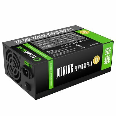 Game Max 1800W 90% Efficient Gold Mining PSU Power Supply For Bitcoin Litecoin