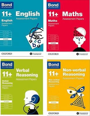 Bond 11+ English 4 Books Set Ages 8-9 Inc Assessment and Tests