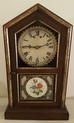 "Antique 19th C. New Haven Clock Co ""Tuscan"" Victorian Cottage Mantel Shelf Clock"
