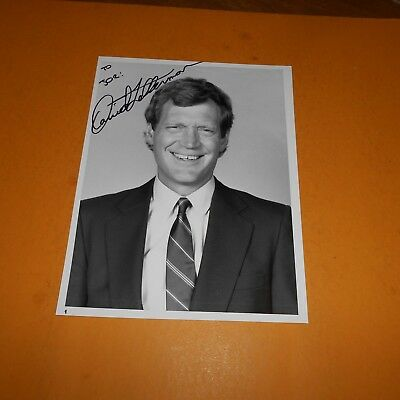 David Letterman is an American television host, comedian Hand Signed Photo